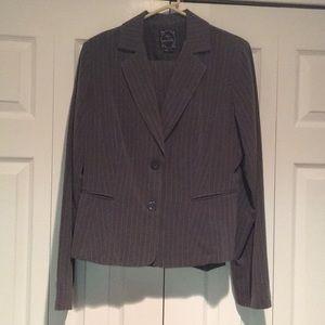 🆕 Gray Pinstripe Suit Jacket